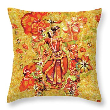 Ganges Flower Throw Pillow by Eva Campbell