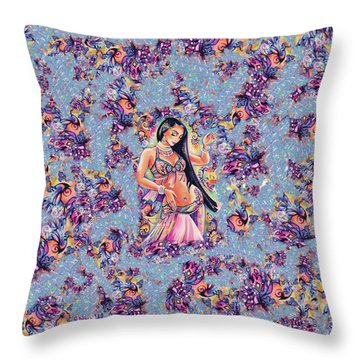 Dancing In The Mystery Of Shahrazad Throw Pillow