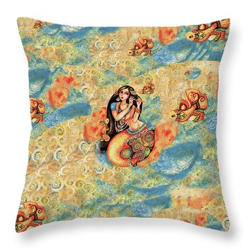 Aanandinii And The Fishes Throw Pillow