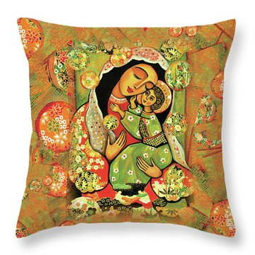 Madonna And Child Throw Pillow by Eva Campbell