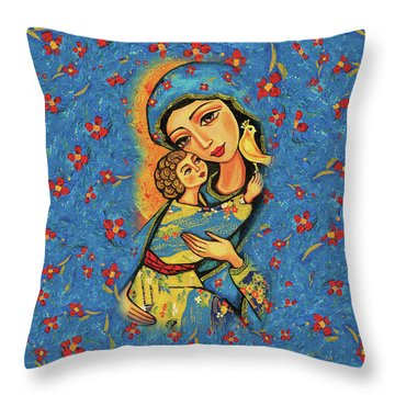 Mother Temple Throw Pillow by Eva Campbell
