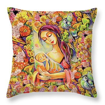 Tree Of Life Throw Pillow by Eva Campbell