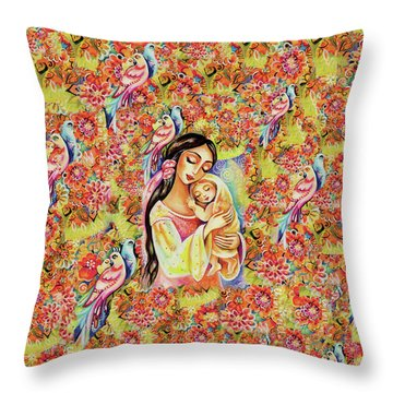 Little Angel Dreaming Throw Pillow