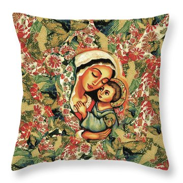 The Blessed Mother Throw Pillow