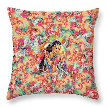 Dancing Of The Phoenix Throw Pillow