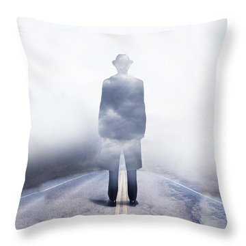 Throw Pillow featuring the digital art Send In The Clouds by Shanina Conway