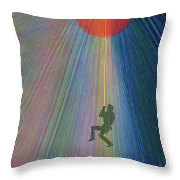 Reach Out And Touch Confidence Throw Pillow