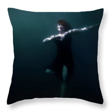 Dancing Under The Water Throw Pillow