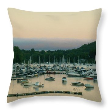 Sunrise Over Mallets Bay Variations - Three Throw Pillow