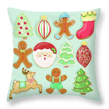 Baking Christmas Bright Throw Pillow