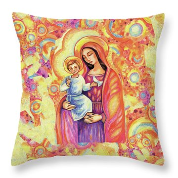 Blessing Of The Light Throw Pillow