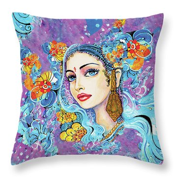 The Veil Of Aish Throw Pillow by Eva Campbell