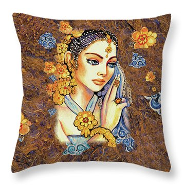 Throw Pillow featuring the painting Amari by Eva Campbell