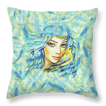 Bird Of Secrets Throw Pillow