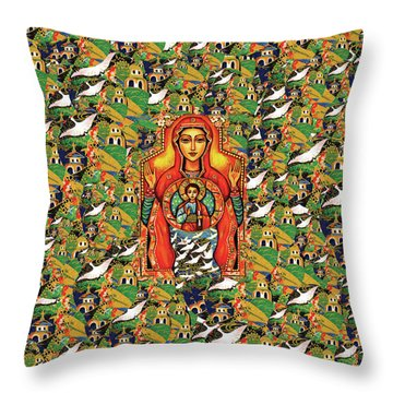 Our Lady Of The Sign Throw Pillow