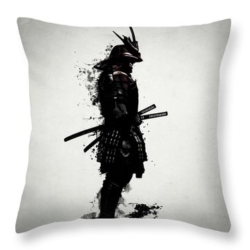 Armored Samurai Throw Pillow by Nicklas Gustafsson