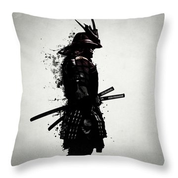 Armored Samurai Throw Pillow