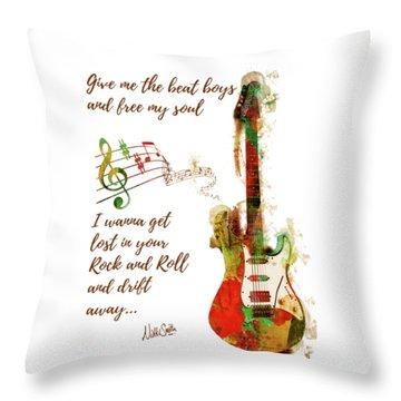 Drift Away Throw Pillow by Nikki Marie Smith