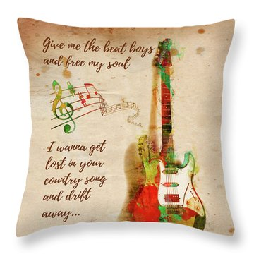 Throw Pillow featuring the digital art Drift Away Country by Nikki Marie Smith