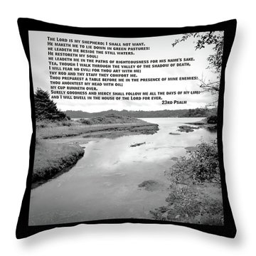 Throw Pillow featuring the photograph Beside Still Waters by Methune Hively