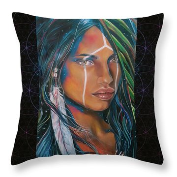 Shamanic Feelher Throw Pillow