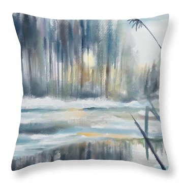 Snow From Yesterday Throw Pillow