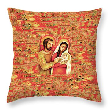 Holy Family Throw Pillow