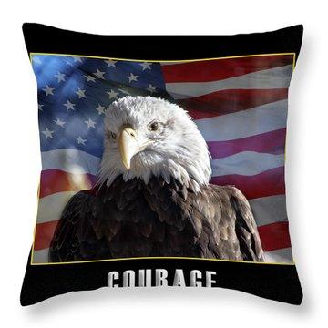 The American Bald Eagle Throw Pillow
