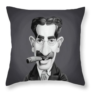 Celebrity Sunday - Groucho Marx Throw Pillow