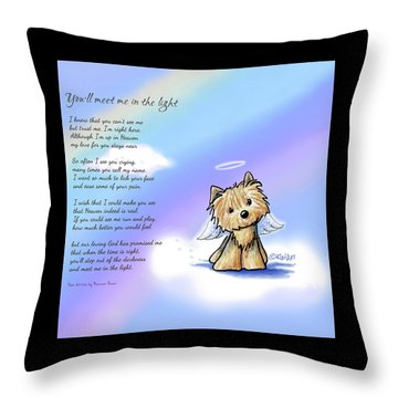 Yorkie Memorial Throw Pillow by Kim Niles