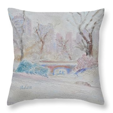 Central Park Record Early March Cold Circa 2007 Throw Pillow
