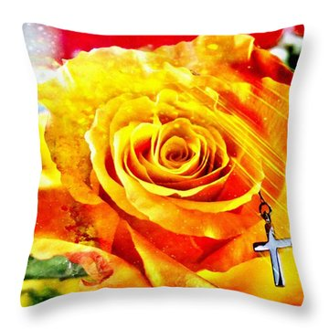 God Love Peace Throw Pillow