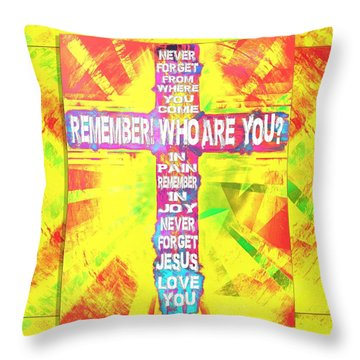 The Cross Of Victory Throw Pillow