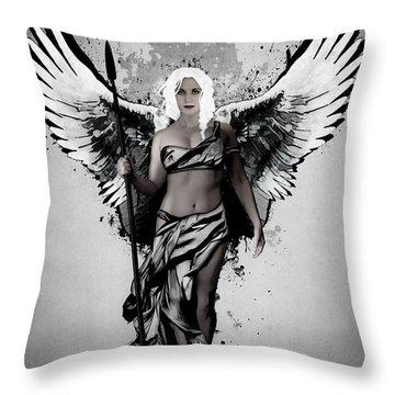 Throw Pillow featuring the digital art Valkyrja by Nicklas Gustafsson