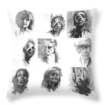 Making Marks And Coaxing Emotions 1 Throw Pillow