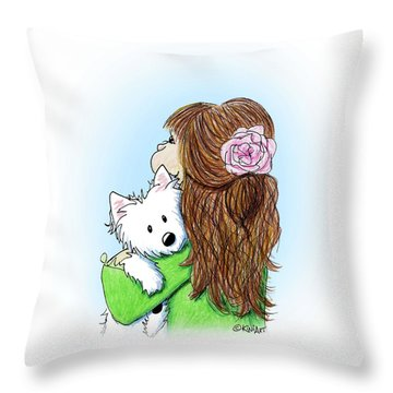 Can I Keep Him? Throw Pillow by Kim Niles