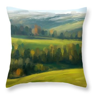 Rich Landscape Throw Pillow