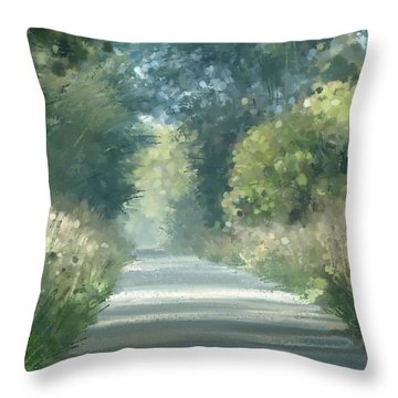 The Road Back Home Throw Pillow