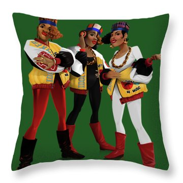 Push It Throw Pillow by Nelson Garcia