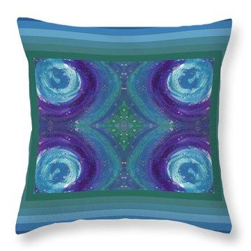 Universal Love Green Diamond Quad Throw Pillow