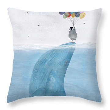 Throw Pillow featuring the painting Uplifting by Bri B