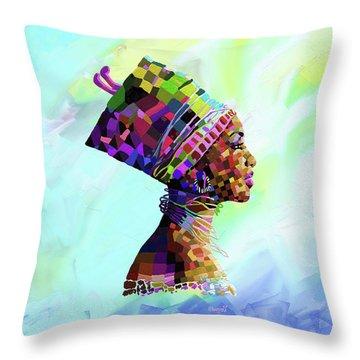 Queen Nefertiti Throw Pillow