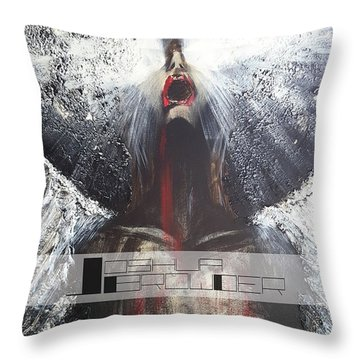 Darkness Rain Throw Pillow by Joshua Browder