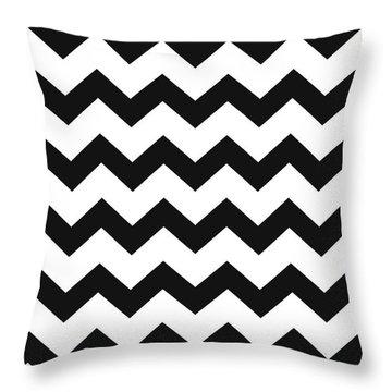Black White Geometric Pattern Throw Pillow by Christina Rollo