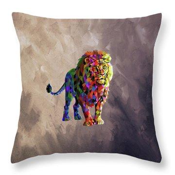 Geometrical Lion King Throw Pillow