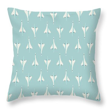 Concorde Jet Airliner - Sky Throw Pillow