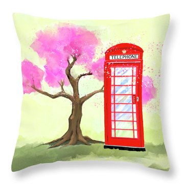 Throw Pillow featuring the mixed media The Great British Spring by Mark Tisdale