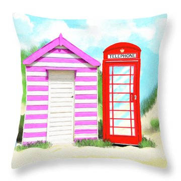Throw Pillow featuring the mixed media The Great British Summer by Mark Tisdale