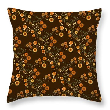Throw Pillow featuring the digital art Autumn Flower Explosion by Methune Hively