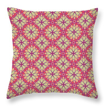 Throw Pillow featuring the digital art Stained Glass by Methune Hively